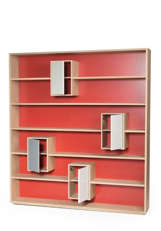Boekenkasten : Design Boekenkast Mixage 190cm kleur keuze
