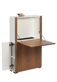 HomeCube-Large-walnut-white-open-open-stalen-matje